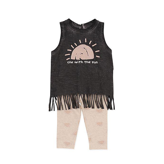 Alternate image 1 for Jessica Simpson 2-Piece One Sun Tank Top and Legging Set