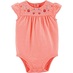 OshKosh B'gosh® Embroidered Floral Bodysuit in Pink