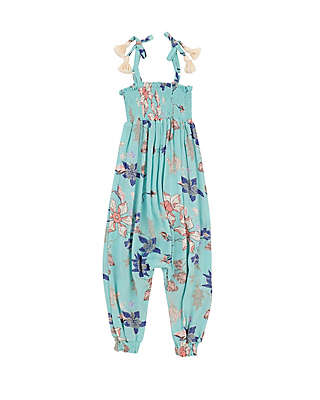 Jessica Simpson Floral Romper in Mint