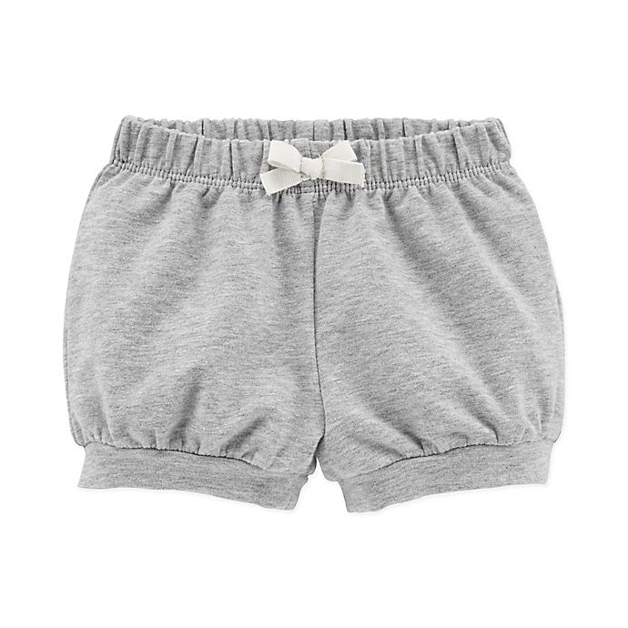 Alternate image 1 for carter's® Bow Front Short in Grey