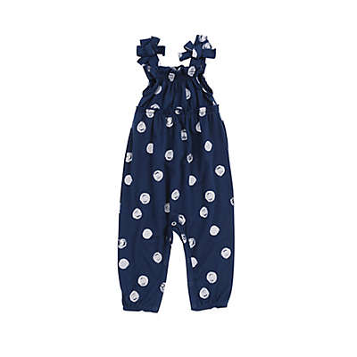 Jessica Simpson Dotted Romper in Navy