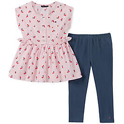 Tommy Hilfiger® 2-Piece Cherry Top and Legging Set