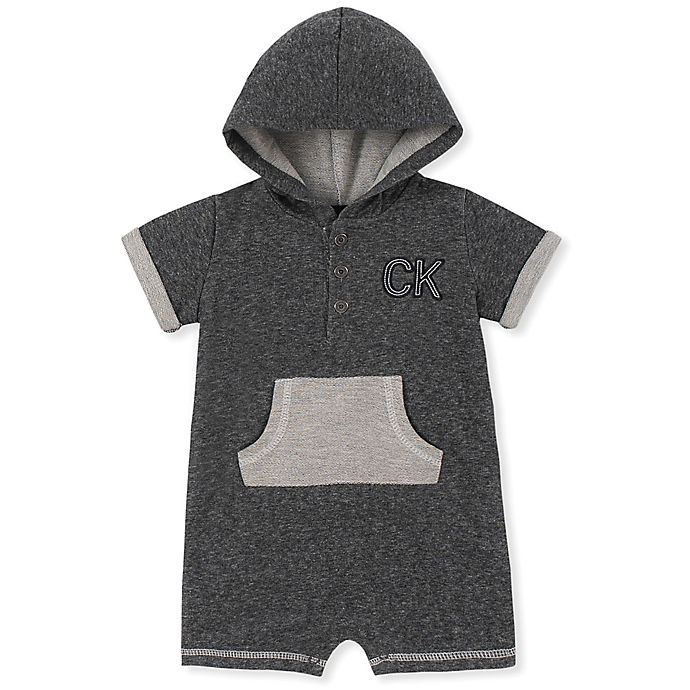 Alternate image 1 for Calvin Klein® Checkered Hooded Coverall in Grey