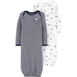 carter's® Preemie 2-Piece Sloth Stripe Gowns