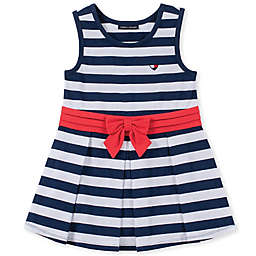 Tommy Hilfiger® Sleeveless Striped Dress in Navy/White