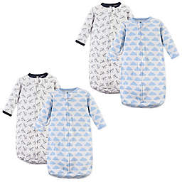 Hudson Baby® Size 0-3M 2-Pack Airplanes Wearable Blankets