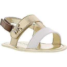 MICHAEL Michael Kors Ceder Sandal in White/Gold