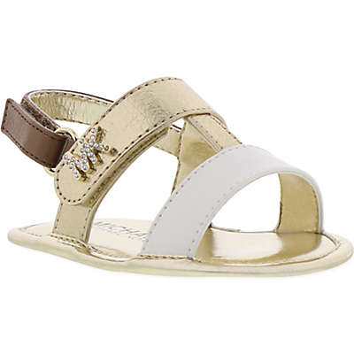 MICHAEL Michael Kors Ceder Sandal in White/Gold