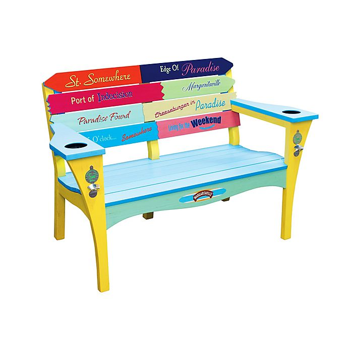 Prime Margaritaville Southern Most Point 2 Person Multicolored Bench Machost Co Dining Chair Design Ideas Machostcouk