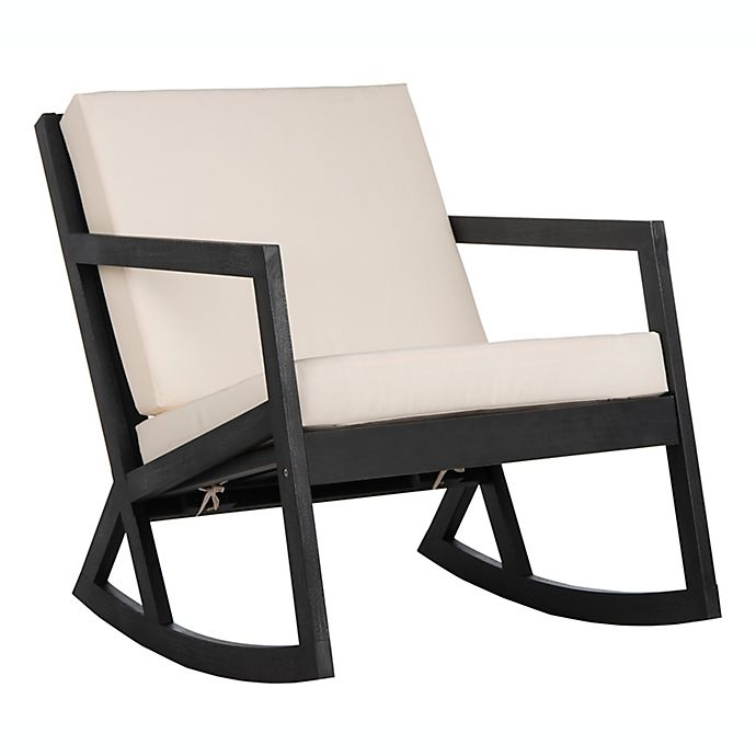 Fine Safavieh Vernon Outdoor Rocking Chair In Black White Bed Unemploymentrelief Wooden Chair Designs For Living Room Unemploymentrelieforg