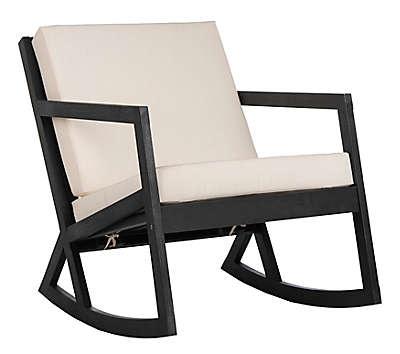 Safavieh Vernon Outdoor Rocking Chair in Black/White