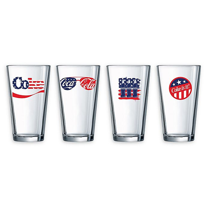 Alternate image 1 for Luminarc Coca-Cola® Americana Pub Glasses (Set of 4)
