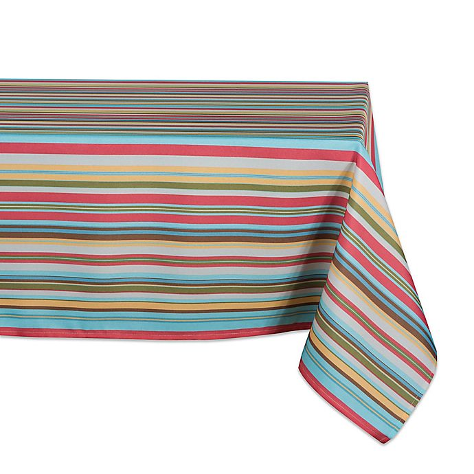 Alternate image 1 for Design Imports Summer Stripe Indoor/Outdoor Table Linen Collection