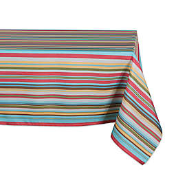 Design Imports Summer Stripe Indoor/Outdoor Tablecloth