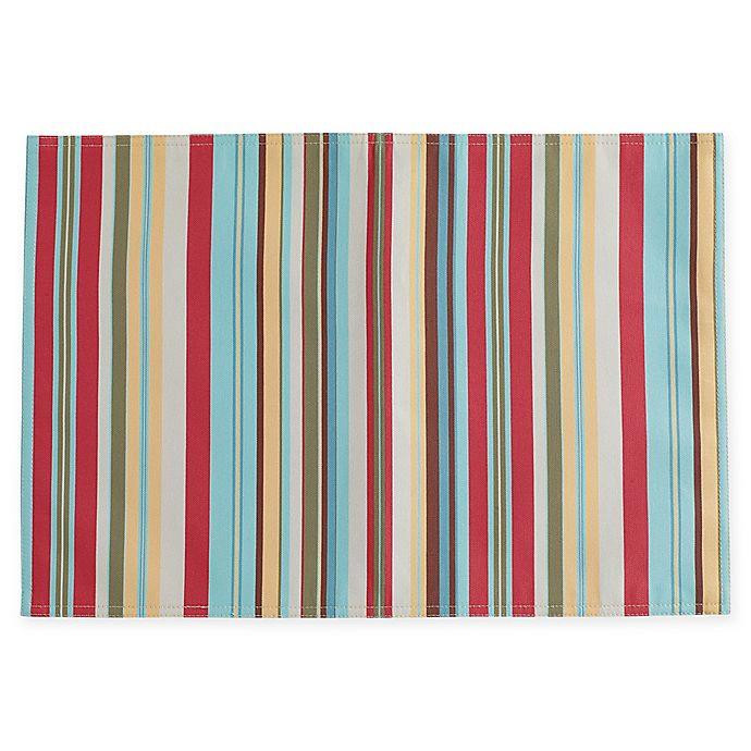 Alternate image 1 for Summer Stripe Indoor/Outdoor Placemats (Set of 4)