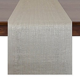 Design Imports Space-Dyed 72-Inch Table Runner in Grey