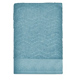 Mesa Chevron Bath Towel in Aqua