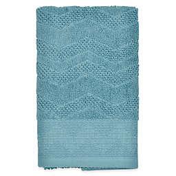 Mesa Chevron Hand Towel in Aqua