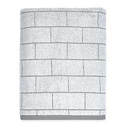 DKNY Grey Tile Bath Towel