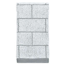 DKNY Grey Tile Fingertip Towel