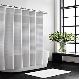 Vera Wang Seersucker Stripe Shower Curtain