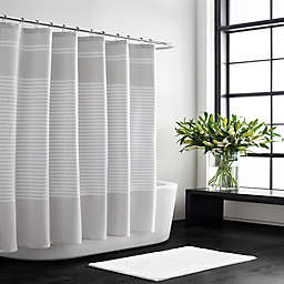 Vera Wang Seersucker Stripe Shower Curtain