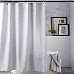 DKNY Subway Tile Shower Curtain in Grey