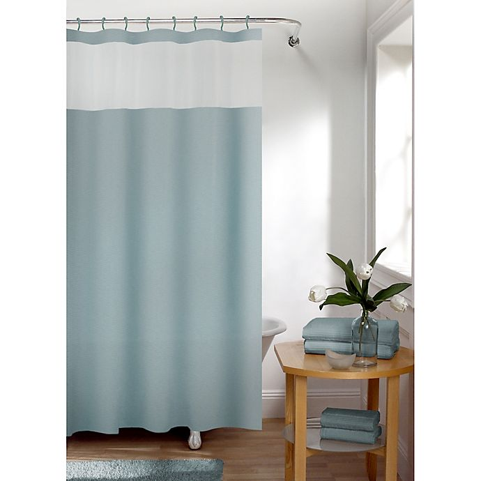 Alternate image 1 for Smart Curtain Hendrix View Shower Curtain in Blue