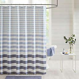 Madison Park Aviana Stripe Woven Shower Curtain