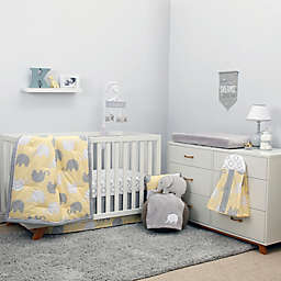 NoJo® Dreamer Elephant Crib Bedding Collection in Yellow