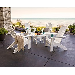 POLYWOOD® Vineyard 5-Piece Oversized Adirondack Patio Conversation Set