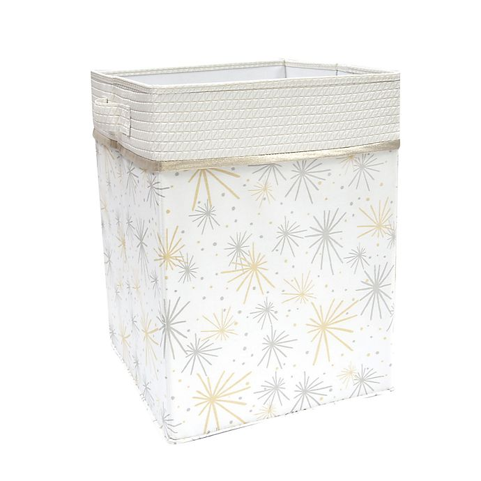Alternate image 1 for Lambs & Ivy® Signature Moonbeams Storage/Hamper in White/Gold