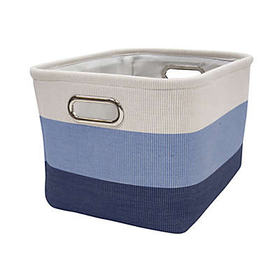 Lambs & Ivy® Ombre Storage Basket in Blue/Cream