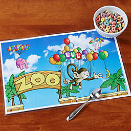 Floating Zoo Personalized Laminated Placemat
