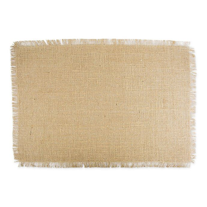 Alternate image 1 for Design Imports Jute Placemats in Natural (Set of 6)