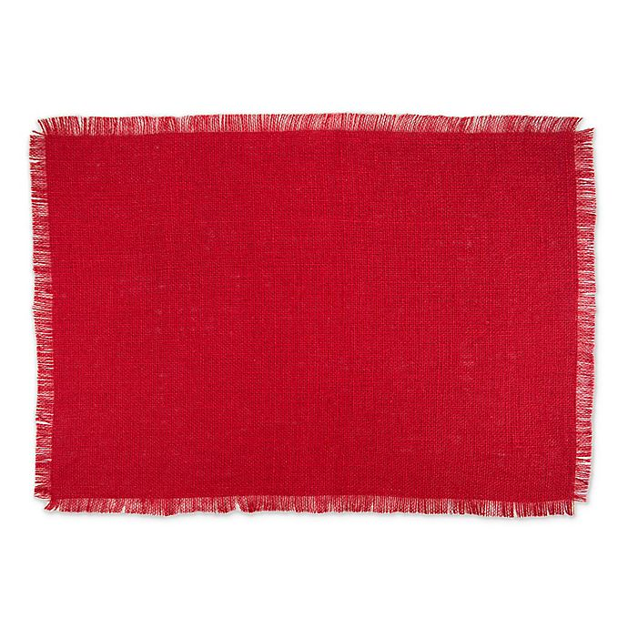 Alternate image 1 for Design Imports Jute Placemats in Red (Set of 6)