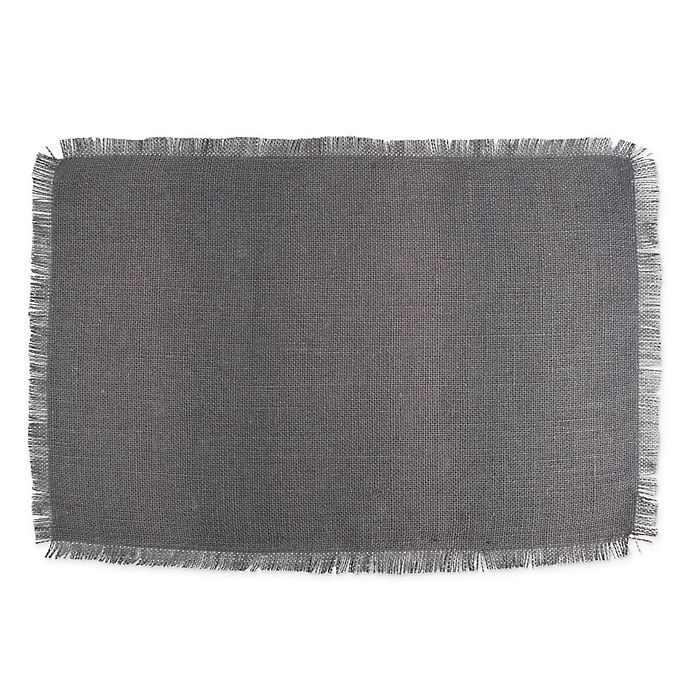 Alternate image 1 for Design Imports Jute Placemats in Grey (Set of 6)