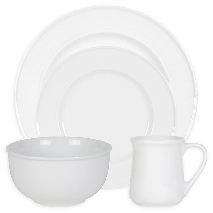 Alternate image 1 for Everyday White® by Fitz and Floyd® Bistro Dinnerware