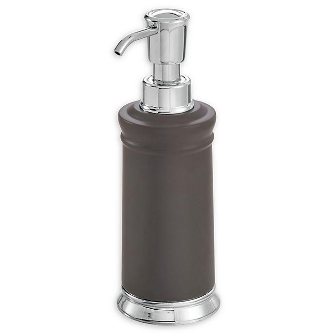 Alternate image 1 for iDesign® Chandler Soap Dispenser in Graphite/Chrome