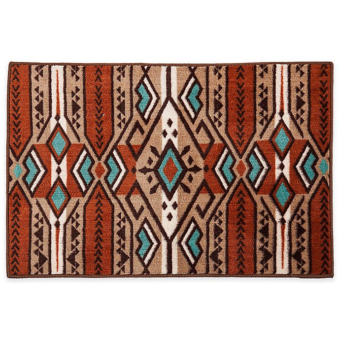 Aztec Stripe Bath Rug