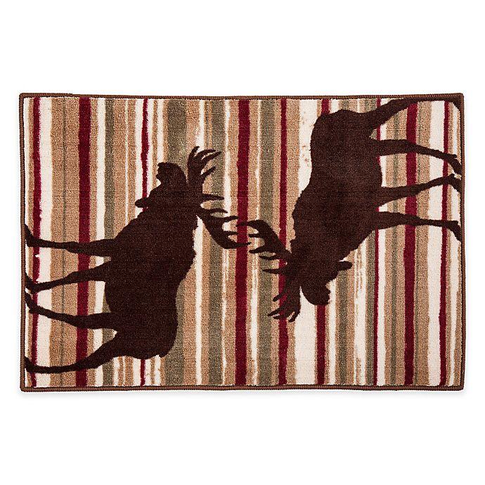 """Moose Bath Rug: HiEnd Accents 24"""" X 36"""" Moose Stripe Bath Rug"""
