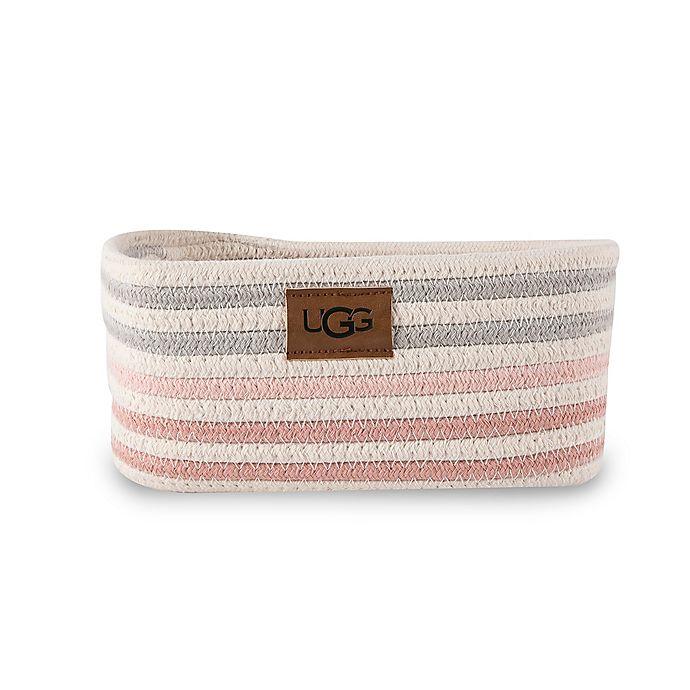 Alternate image 1 for UGG® Lena Striped Vanity Bin in Pink