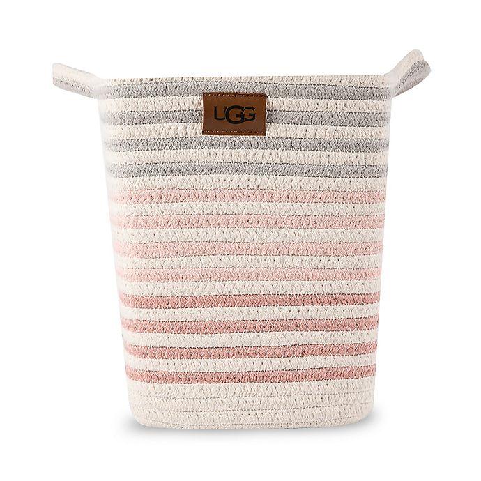Alternate image 1 for UGG® Lena Striped Wastebasket in Pink