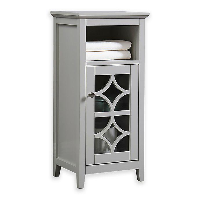 Floor Cabinet With Gl Door In Beige