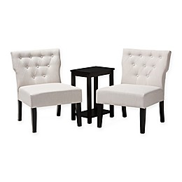 Baxton Studio® Polyester 3 Piece Set Upholstered Bret Chairs