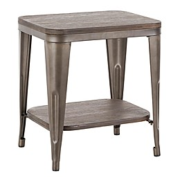 Lumisource Oregon Industrial End Table