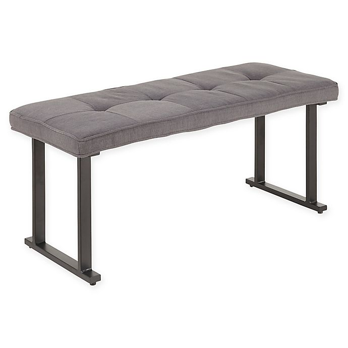 Alternate image 1 for Lumisource® Polyester Upholstered Roman Bench in Grey