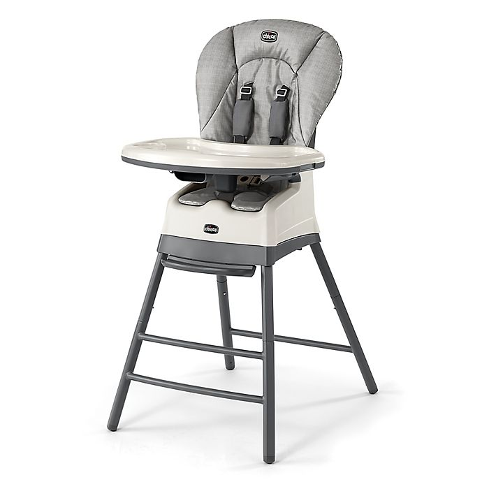 Alternate image 1 for Chicco® Stack 3-in-1 Highchair in Grey Weave