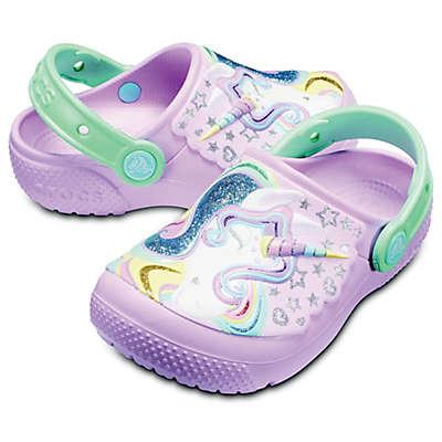 Crocs™ Fun Lab Unicorn Kid's Clog in Pink/Mint