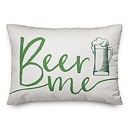 Designs Direct St. Patrick's Beer Me Oblong Throw Pillow